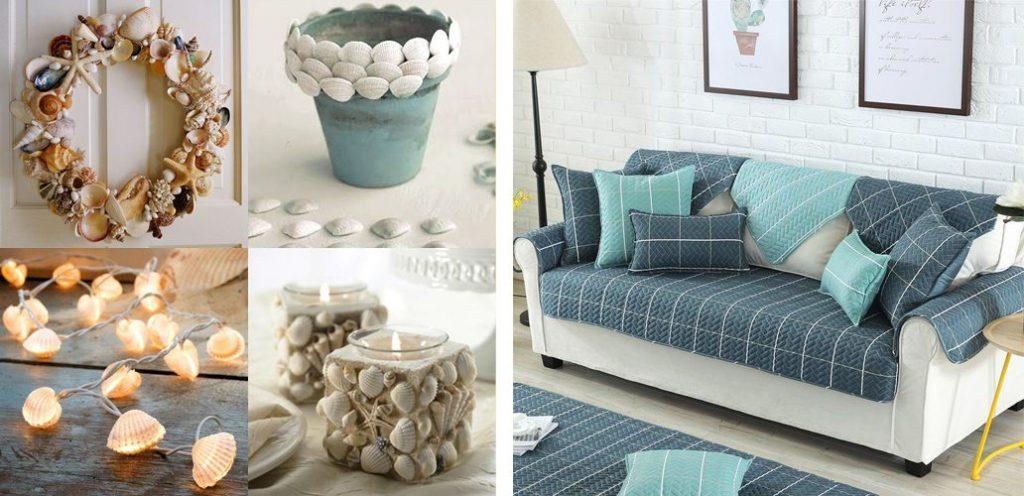 Decorar seu imóvel de temporada - Artesanatos com objetos antigos e capa para sofá. ©DoceDezoito / Rosegal