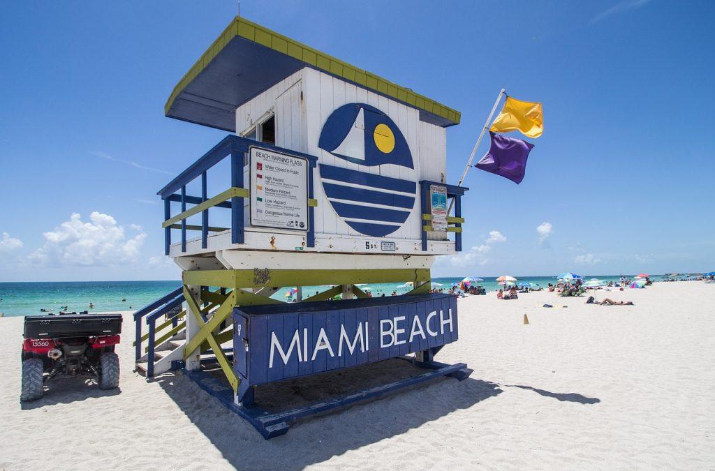 melhores praias de Miami.