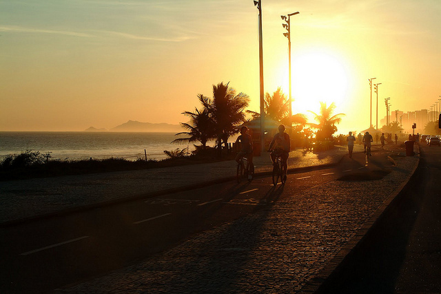 Pôr do sol na Barra da Tijuca